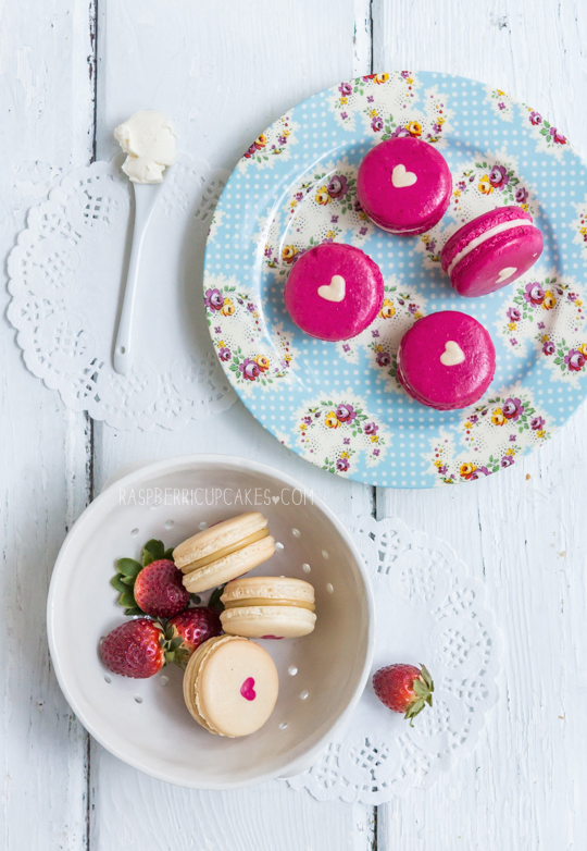 Vantine's day heart macarons