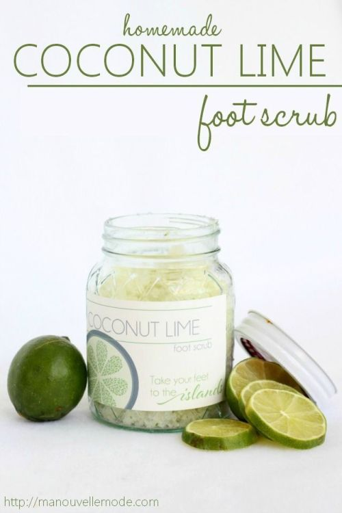 Coconut and Lime Foot Scrub