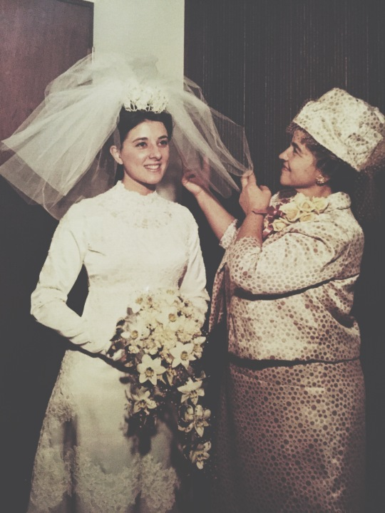 My mom's wedding day
