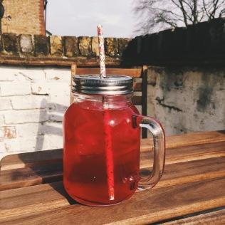Kilner jar with metal lid