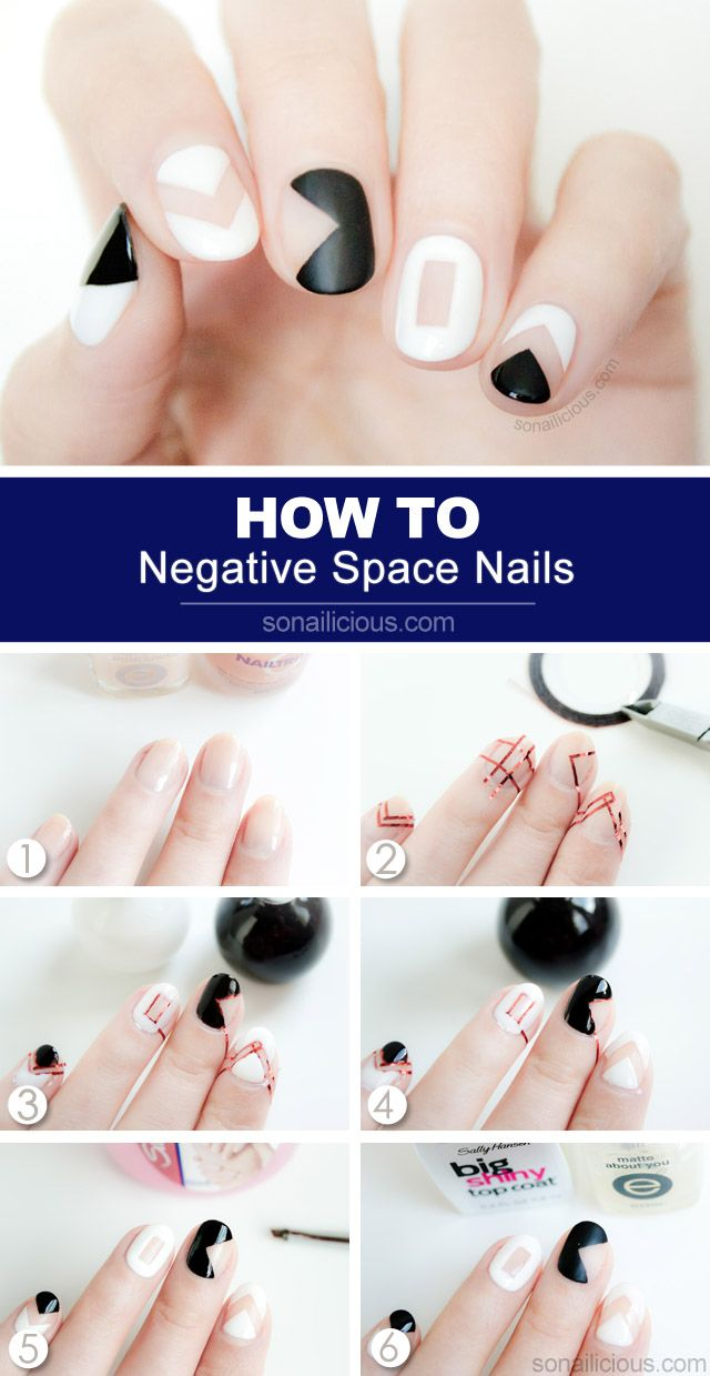 How to do negative space nail art | The Lone Panda