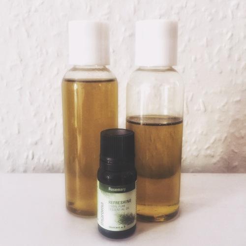 Castor Oil Avocado oil rosemary oil for your hair