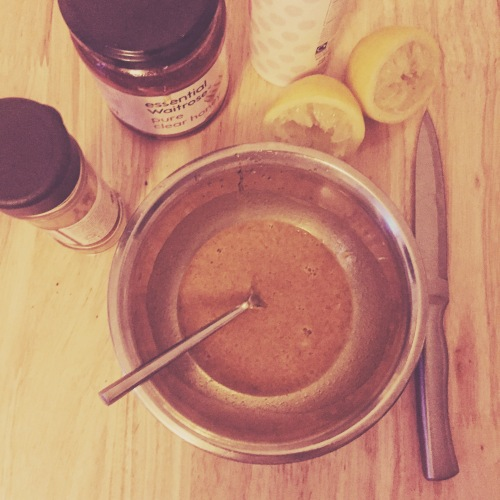 Turmeric, honey, lemon, baking soda face mask