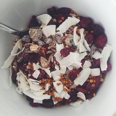 Cereal bee pollen healthy breakfast