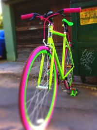 neon bicycle