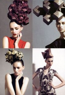 geometric head pieces