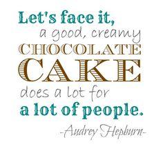 audrey hepburn quotes cake