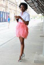 Flamingo inspired skirt