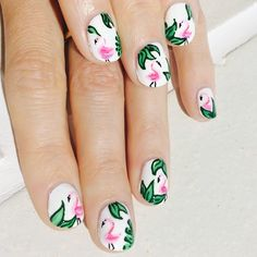 Flamingo nails