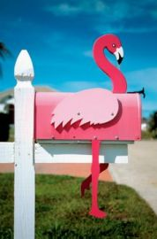 Flamingo mail box