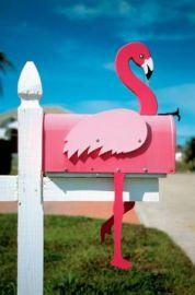Flamingo mail box