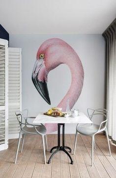 Flamingo wall