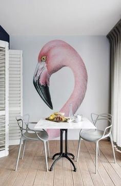Flamingo wall