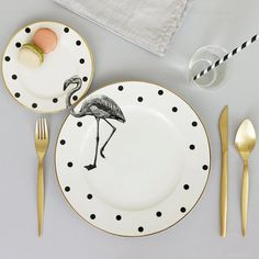 Flamingo dishware