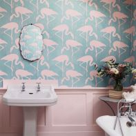 Flamingo bathroom