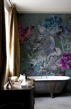bird-of-paradise-bathroom-wall