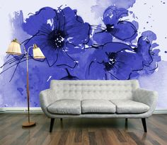 blue-flowers-wall