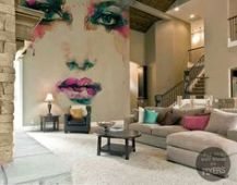 face-mural-living-room